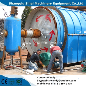 Waste tire pyrolysis machine with high oil yield